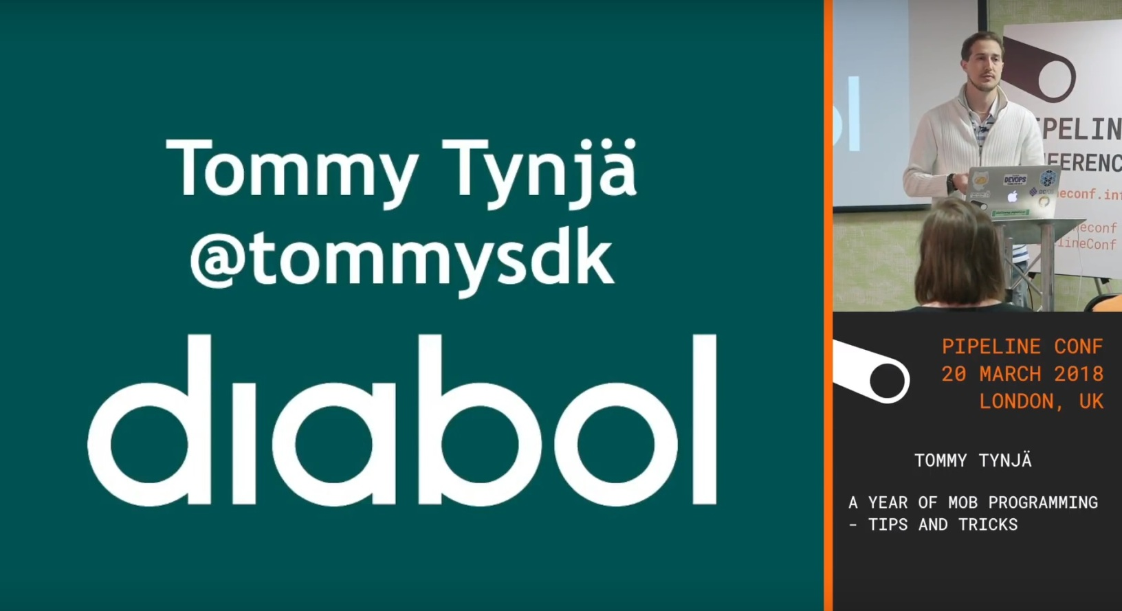 Tommy Tynjä – A year of Mob Programming – tips and tricks – PIPELINE conference 2018